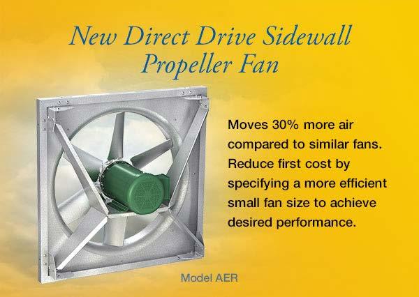 Greenheck Fans Propeller : New direct drive sidewall propeller fan model aer