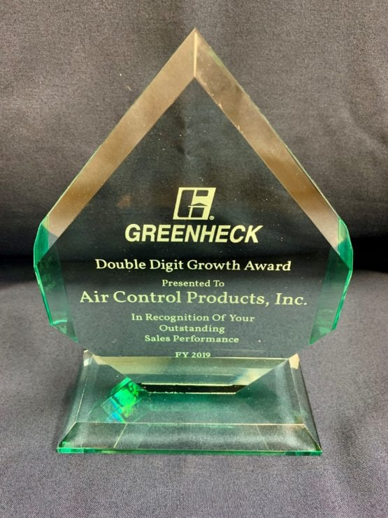 Greenheck Sales Award 2019