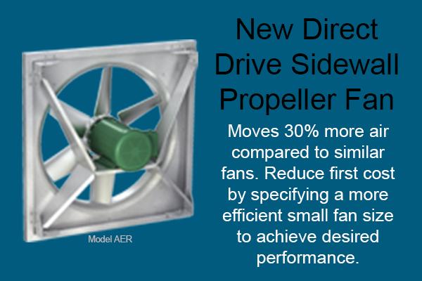 Direct Drive Propeller Fan : New direct drive sidewall propeller fan model aer