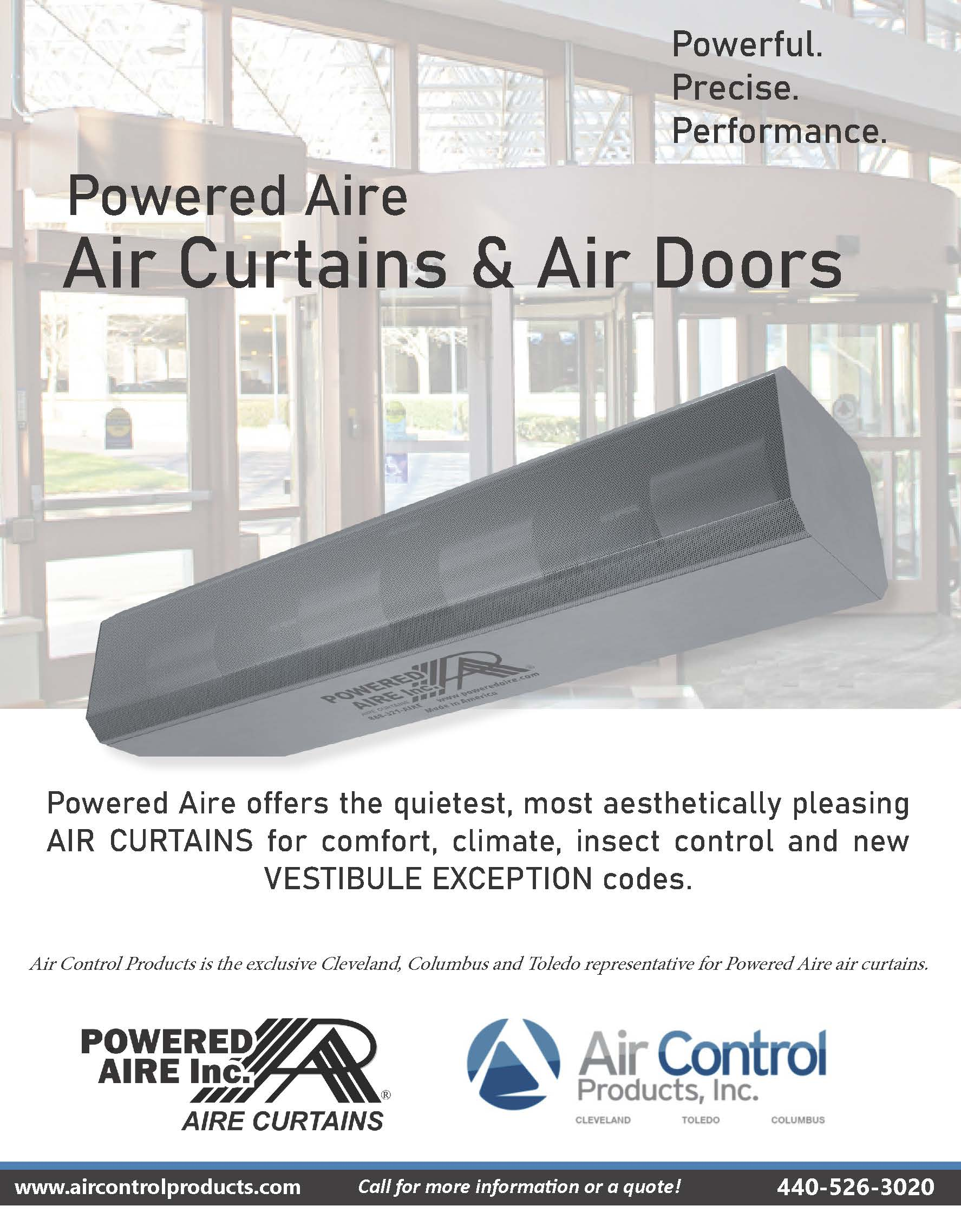 Powered Aire Air Curtains Featured in Properties Magazine
