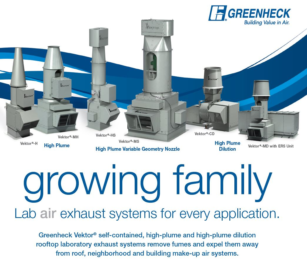 Greenheck Unveils New Fume and Lab Exhaust Options